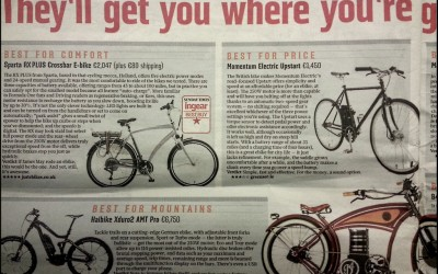 The Sunday Times Reviews Electric Bikes