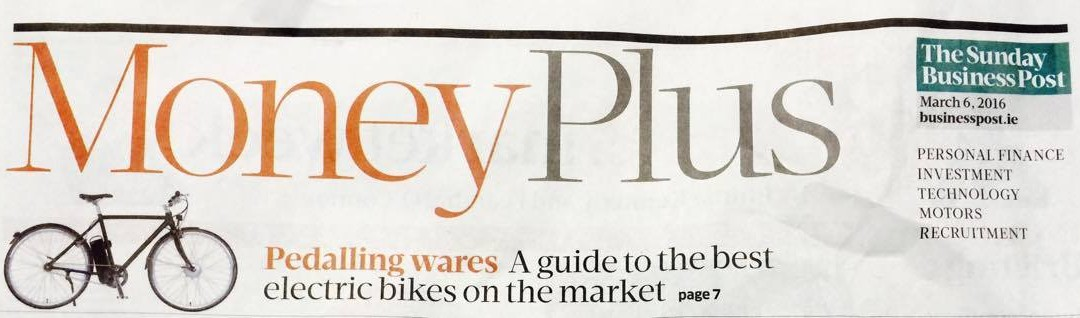 A great review of our Electric Bikes by the 'Gadget Guy' in the Sunday Business Post!