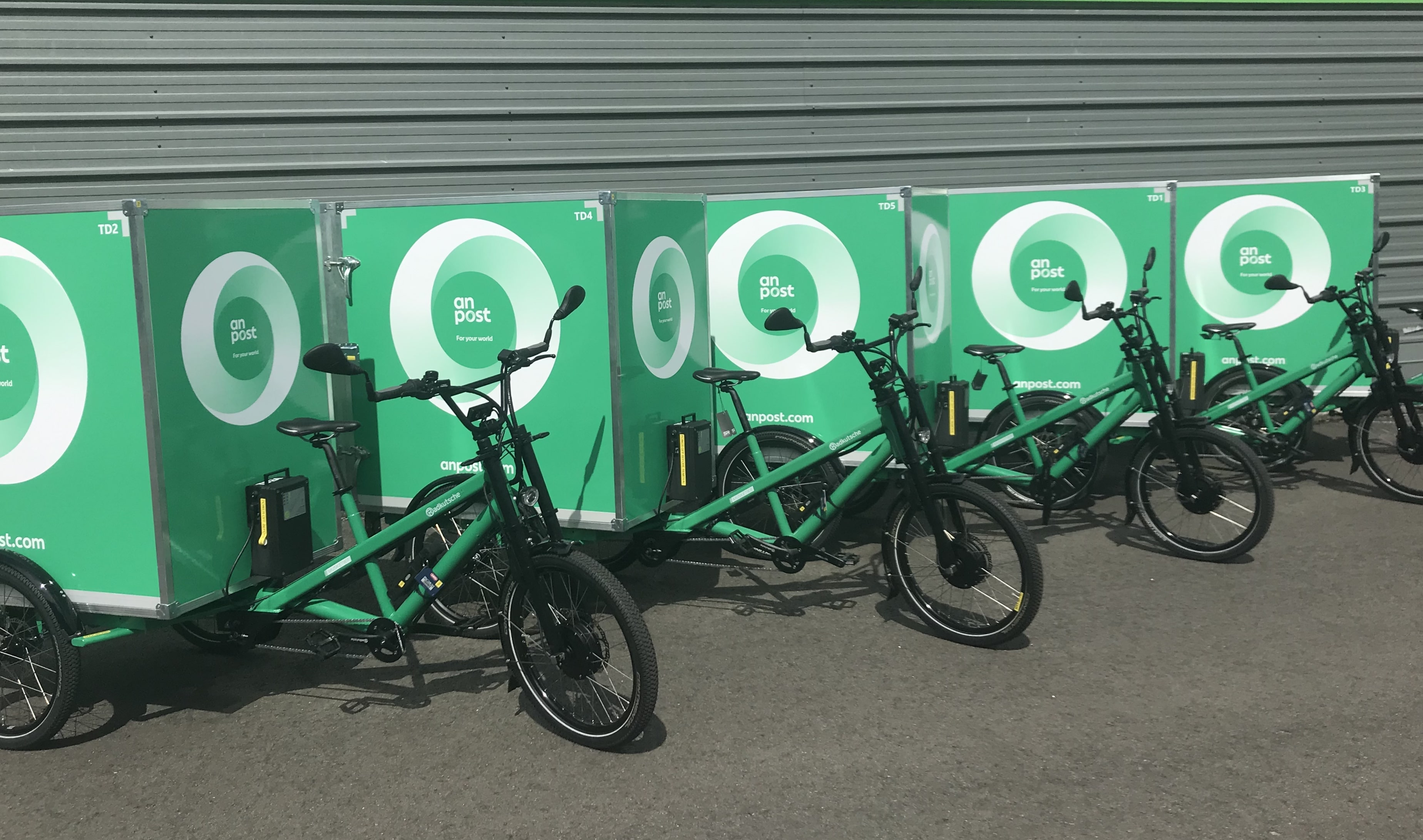 Greenaer Suppliers Of An Post Electric Cargo Bikes